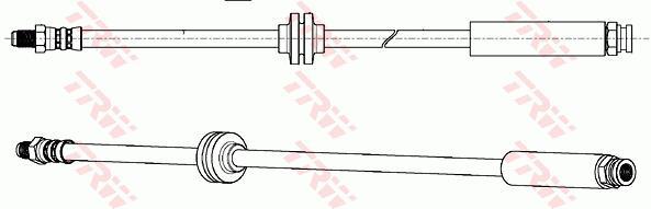 Ilustracja PHB642 TRW przewód hamulcowy elastyczny