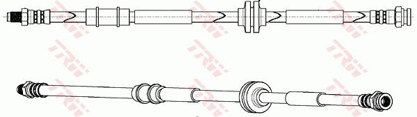 Ilustracja PHB643 TRW przewód hamulcowy elastyczny