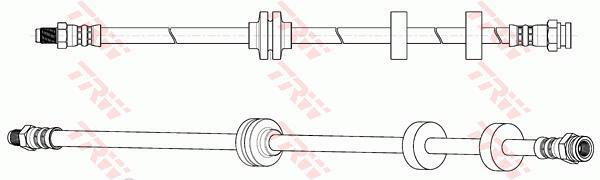 Ilustracja PHB646 TRW przewód hamulcowy elastyczny