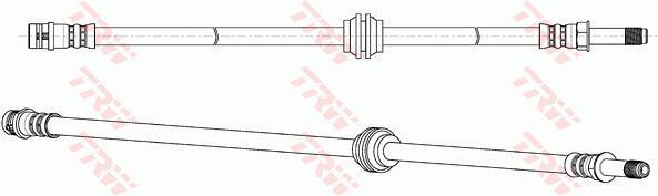 Ilustracja PHB647 TRW przewód hamulcowy elastyczny