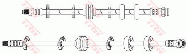Ilustracja PHB648 TRW przewód hamulcowy elastyczny