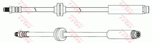 Ilustracja PHB651 TRW przewód hamulcowy elastyczny