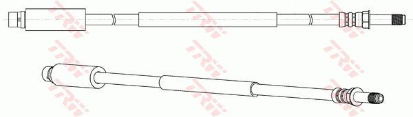 Ilustracja PHB652 TRW przewód hamulcowy elastyczny