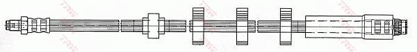 Ilustracja PHB655 TRW przewód hamulcowy elastyczny