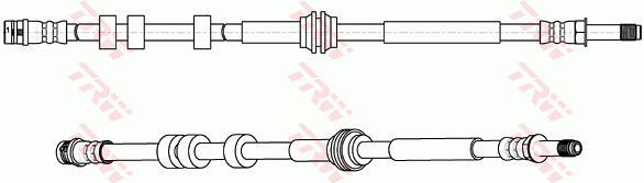Ilustracja PHB661 TRW przewód hamulcowy elastyczny