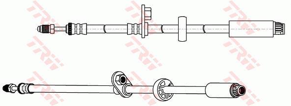Ilustracja PHB664 TRW przewód hamulcowy elastyczny