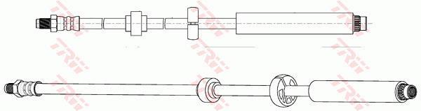 Ilustracja PHB674 TRW przewód hamulcowy elastyczny