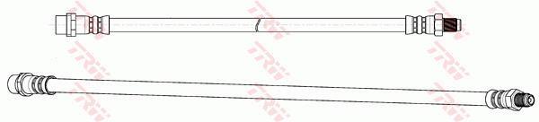 Ilustracja PHB677 TRW przewód hamulcowy elastyczny