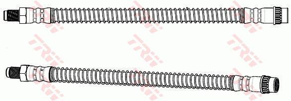 Ilustracja PHB688 TRW przewód hamulcowy elastyczny