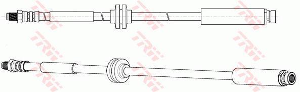 Ilustracja PHB694 TRW przewód hamulcowy elastyczny