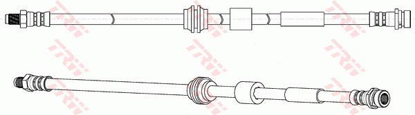 Ilustracja PHB695 TRW przewód hamulcowy elastyczny