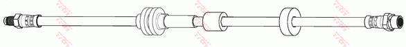 Ilustracja PHB905 TRW przewód hamulcowy elastyczny
