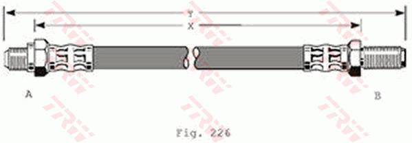 Ilustracja PHC102 TRW przewód hamulcowy elastyczny