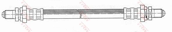 Ilustracja PHC113 TRW przewód hamulcowy elastyczny