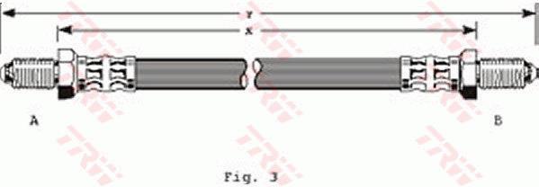 Ilustracja PHC123 TRW przewód hamulcowy elastyczny