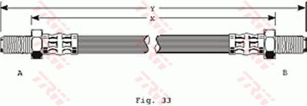 Ilustracja PHC124 TRW przewód hamulcowy elastyczny