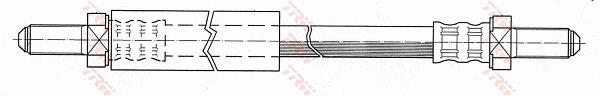 Ilustracja PHC133 TRW przewód hamulcowy elastyczny