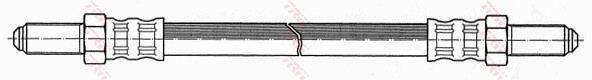 Ilustracja PHC134 TRW przewód hamulcowy elastyczny