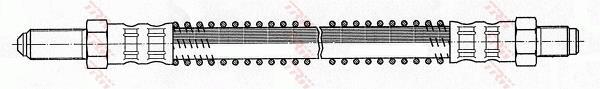 Ilustracja PHC136 TRW przewód hamulcowy elastyczny