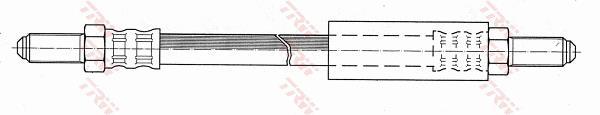 Ilustracja PHC139 TRW przewód hamulcowy elastyczny