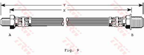 Ilustracja PHC149 TRW przewód hamulcowy elastyczny