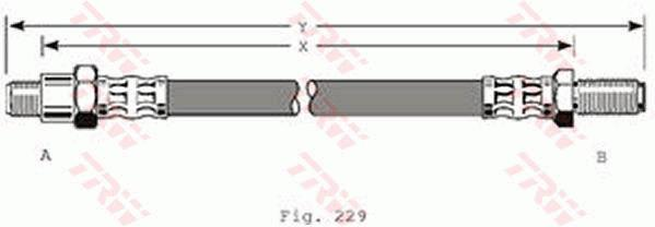 Ilustracja PHC158 TRW przewód hamulcowy elastyczny
