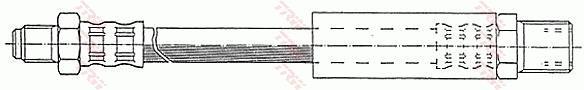 Ilustracja PHC165 TRW przewód hamulcowy elastyczny