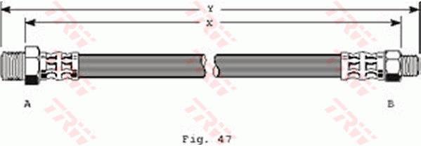 Ilustracja PHC173 TRW przewód hamulcowy elastyczny