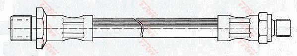 Ilustracja PHC176 TRW przewód hamulcowy elastyczny