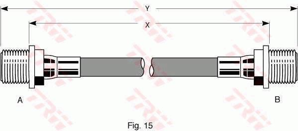Ilustracja PHC178 TRW przewód hamulcowy elastyczny