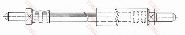 Ilustracja PHC200 TRW przewód hamulcowy elastyczny