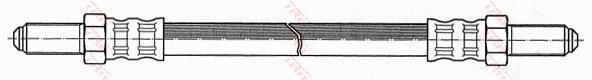 Ilustracja PHC210 TRW przewód hamulcowy elastyczny