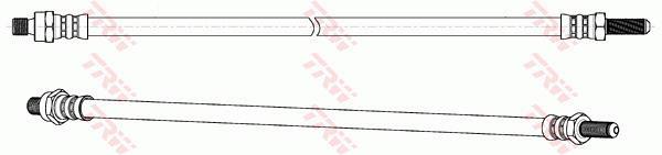 Ilustracja PHC211 TRW przewód hamulcowy elastyczny