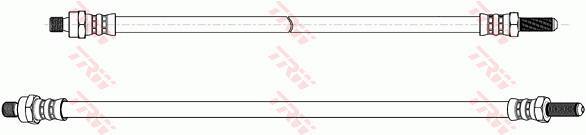 Ilustracja PHC215 TRW przewód hamulcowy elastyczny