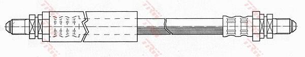 Ilustracja PHC224 TRW przewód hamulcowy elastyczny