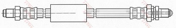 Ilustracja PHC272 TRW przewód hamulcowy elastyczny