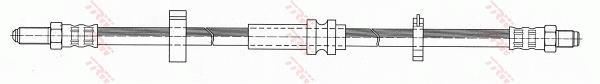 Ilustracja PHC281 TRW przewód hamulcowy elastyczny