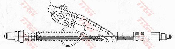Ilustracja PHC291 TRW przewód hamulcowy elastyczny