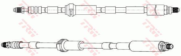 Ilustracja PHC313 TRW przewód hamulcowy elastyczny