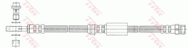 Ilustracja PHD1014 TRW przewód hamulcowy elastyczny