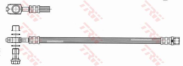 Ilustracja PHD1015 TRW przewód hamulcowy elastyczny