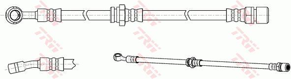 Ilustracja PHD1017 TRW przewód hamulcowy elastyczny