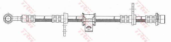 Ilustracja PHD101 TRW przewód hamulcowy elastyczny