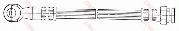Ilustracja PHD1036 TRW przewód hamulcowy elastyczny