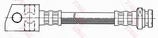 Ilustracja PHD1038 TRW przewód hamulcowy elastyczny
