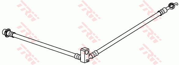 Ilustracja PHD1054 TRW przewód hamulcowy elastyczny