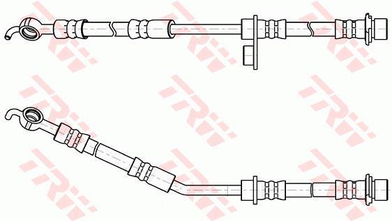 Ilustracja PHD1055 TRW przewód hamulcowy elastyczny