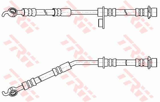 Ilustracja PHD1056 TRW przewód hamulcowy elastyczny