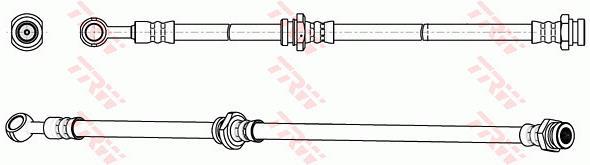 Ilustracja PHD1064 TRW przewód hamulcowy elastyczny