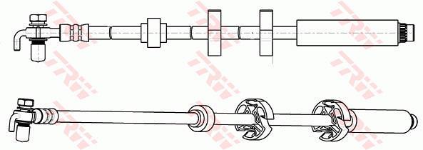 Ilustracja PHD1065 TRW przewód hamulcowy elastyczny